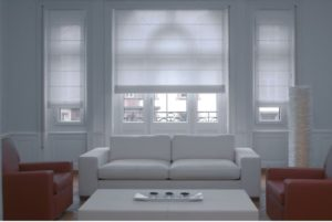 Electric blinds with sheer fabric