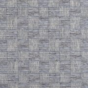 Blue Cotton Check Curtains