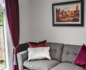 Silver and Aubergine Cushions