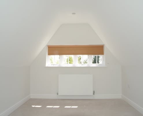 Wooden Blind in Loft