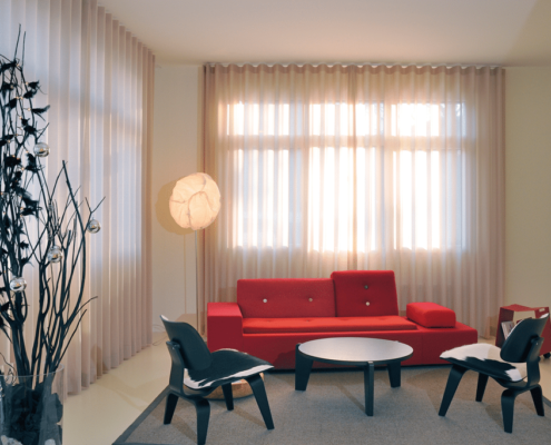 electric curtains with voile fabric