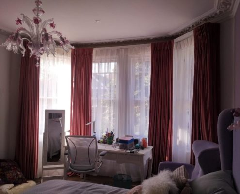 Bay Window Voile Curtains