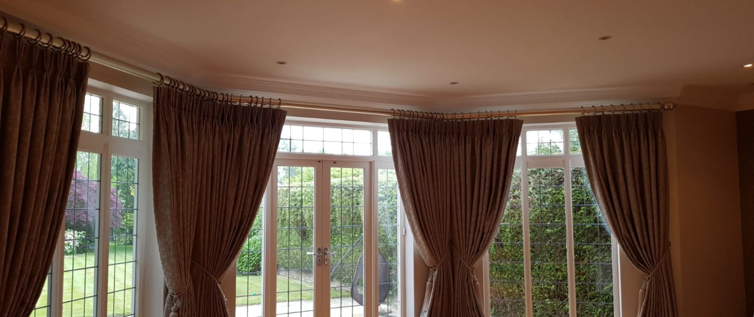 Thick and Luxurious interlined curtains on a pole
