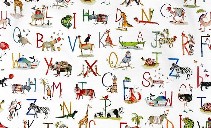 Children curtain ideas animal fabric