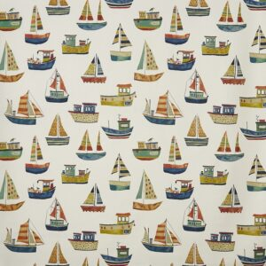 Children curtain ideas boat fabric antique