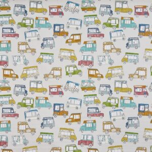 Children curtain ideas cars and vans fabric 2