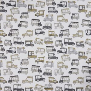 Children curtain ideas cars and vans fabric