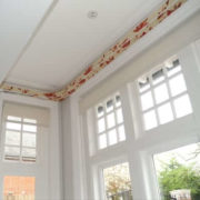 Covered Lath and curtain pelmet for a house in Barnet North London