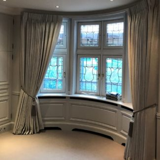 Curtains On A Round Bay Window