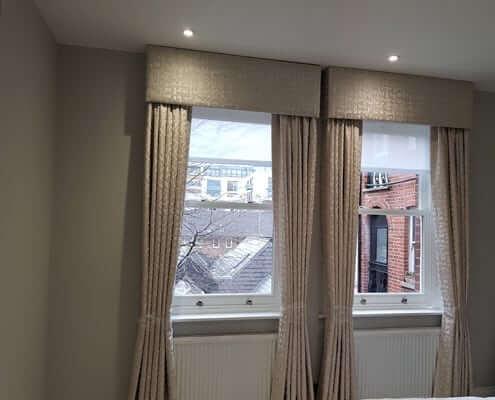 Made to measure Curtain London Bedroom Pelmet Box