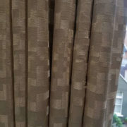 Interlined curtains made of Romo luxury fabric