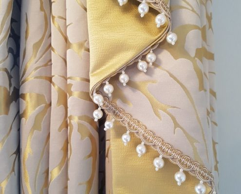 These swags and tails are interlined, and give the ultimate luxury when they are hung