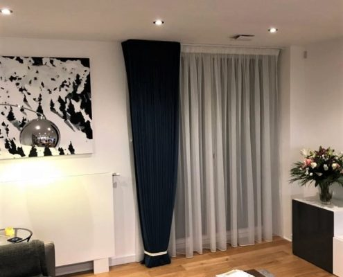 Velvet Curtains And Voile Curtains
