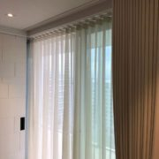 Wave Curtains in North London Voiles On Silent Gliss Track