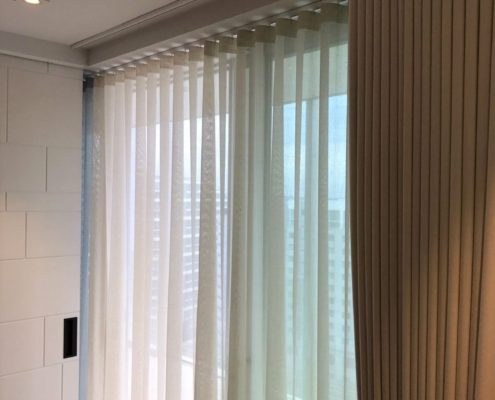 Wave Voiles On Silent Gliss Track, Made To Measure In A London Home