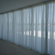 Wide Window Voile Curtains fitted in a London penthouse flat