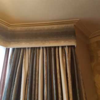 Bespoke Pelmet For Bay Window