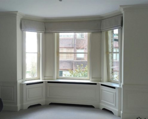 roman blind bay windows