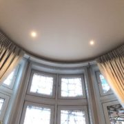 Curved curtains for bay windows on a bespoke track in Barnet North London