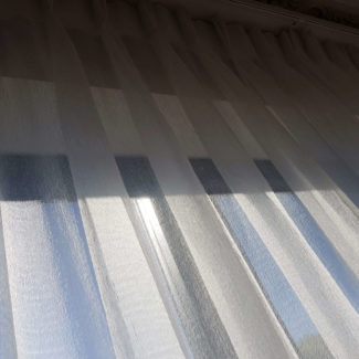 Lovely luxury voile curtains fitted in London Soho