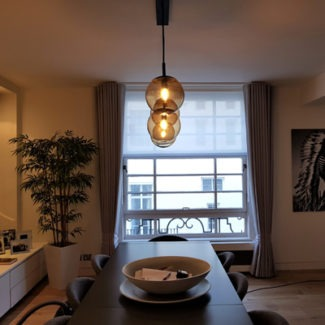 Wave curtains in London Pimlico