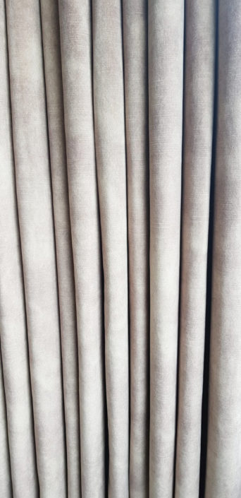 The heavy velvet fabrics used for the curtains in this London project