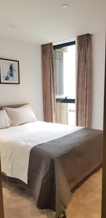 Heavy velvet curtains in bedroom 2, ceiling to floor length