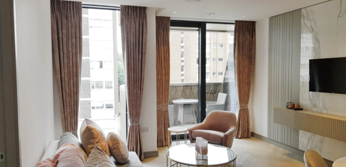 Our latest project of floor to ceiling velvet curtains in North London