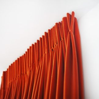 Double pinch pleat with return
