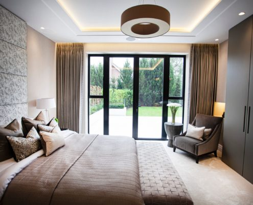 Silky made to measure curtains in a showhome project